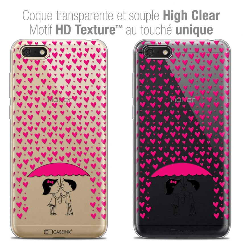 "Carcasa Crystal Gel Extra Fina Honor 7S (5.45"") Love Pluie d'Amour"