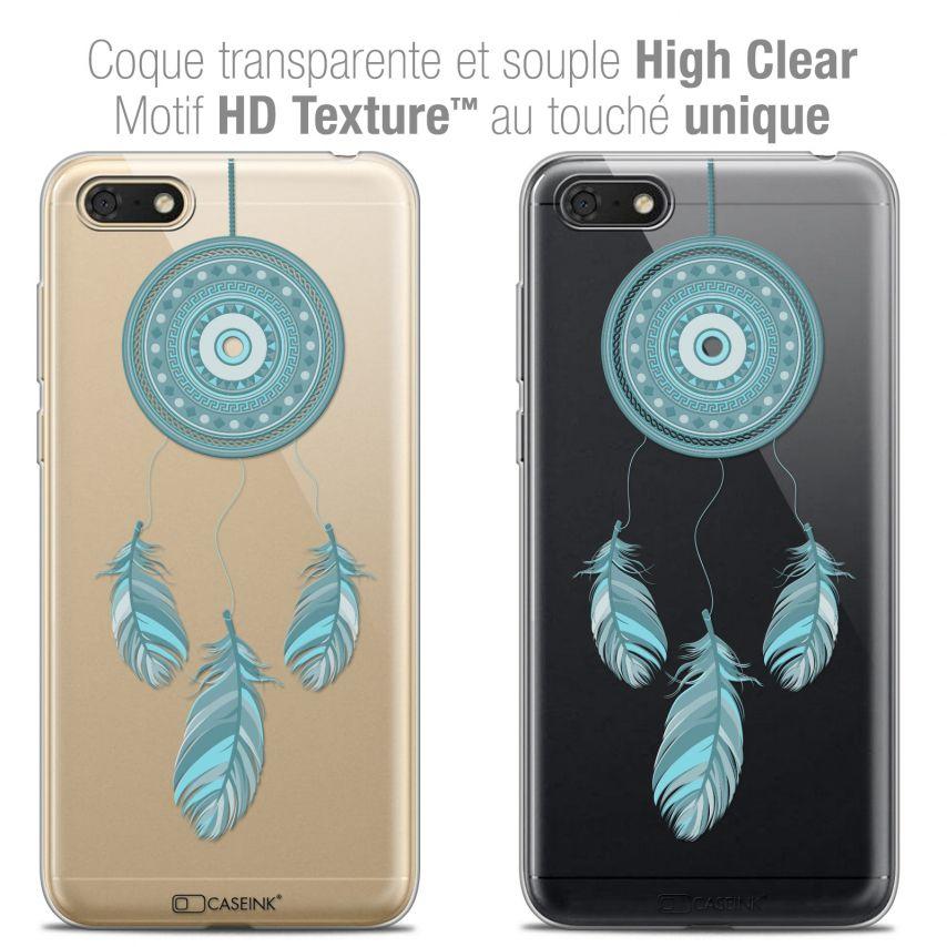 "Carcasa Crystal Gel Extra Fina Honor 7S (5.45"") Dreamy Attrape Rêves Blue"