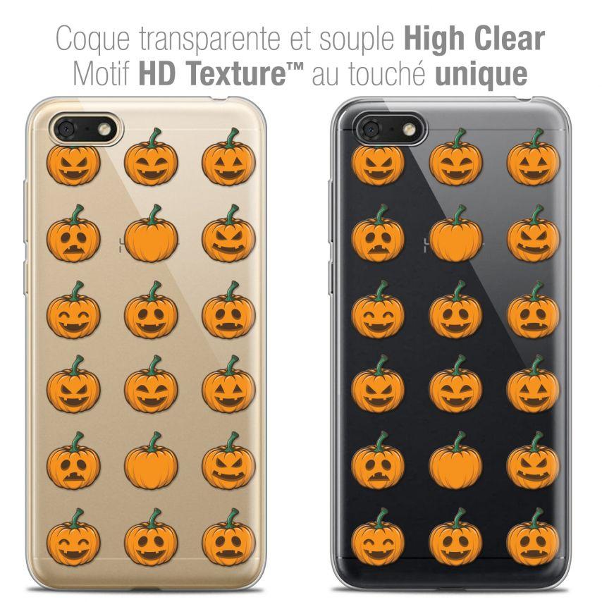 "Carcasa Crystal Gel Extra Fina Honor 7S (5.45"") Halloween Smiley Citrouille"