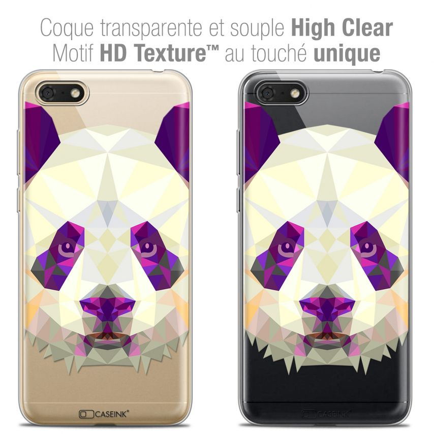 "Carcasa Crystal Gel Extra Fina Honor 7S (5.45"") Polygon Animals Panda"