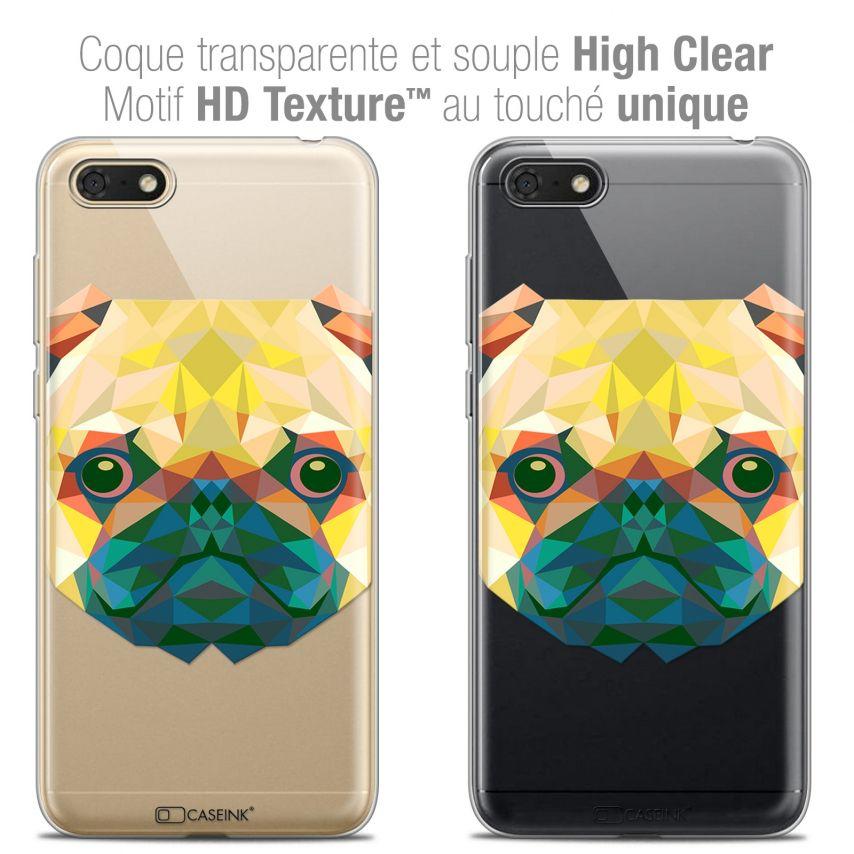 "Carcasa Crystal Gel Extra Fina Honor 7S (5.45"") Polygon Animals Perro"