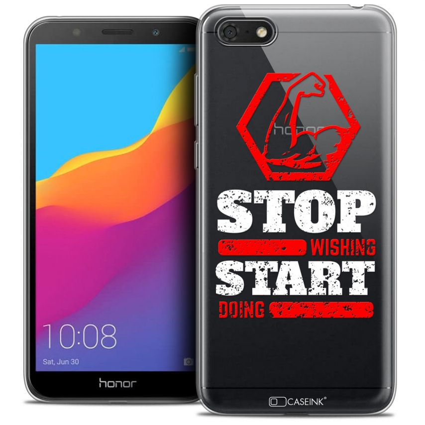 """Carcasa Crystal Gel Extra Fina Honor 7S (5.45"""") Quote Start Doing"""