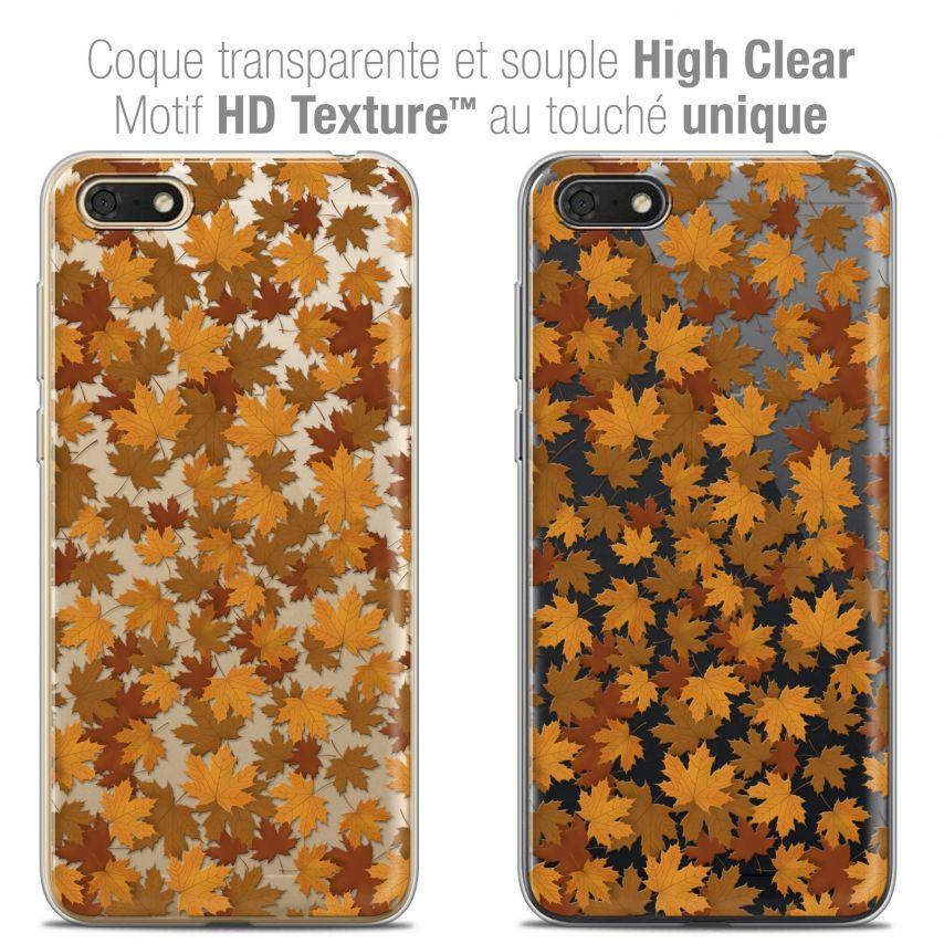 "Carcasa Crystal Gel Extra Fina Honor 7S (5.45"") Autumn 16 Feuilles"