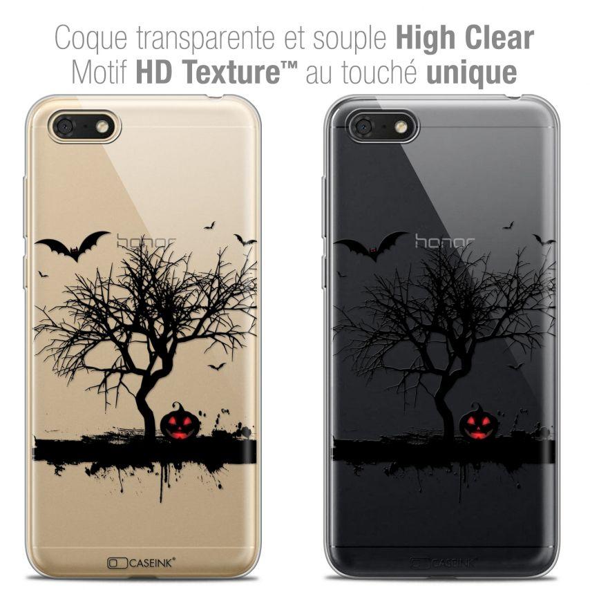 "Carcasa Crystal Gel Extra Fina Honor 7S (5.45"") Halloween Devil's Tree"