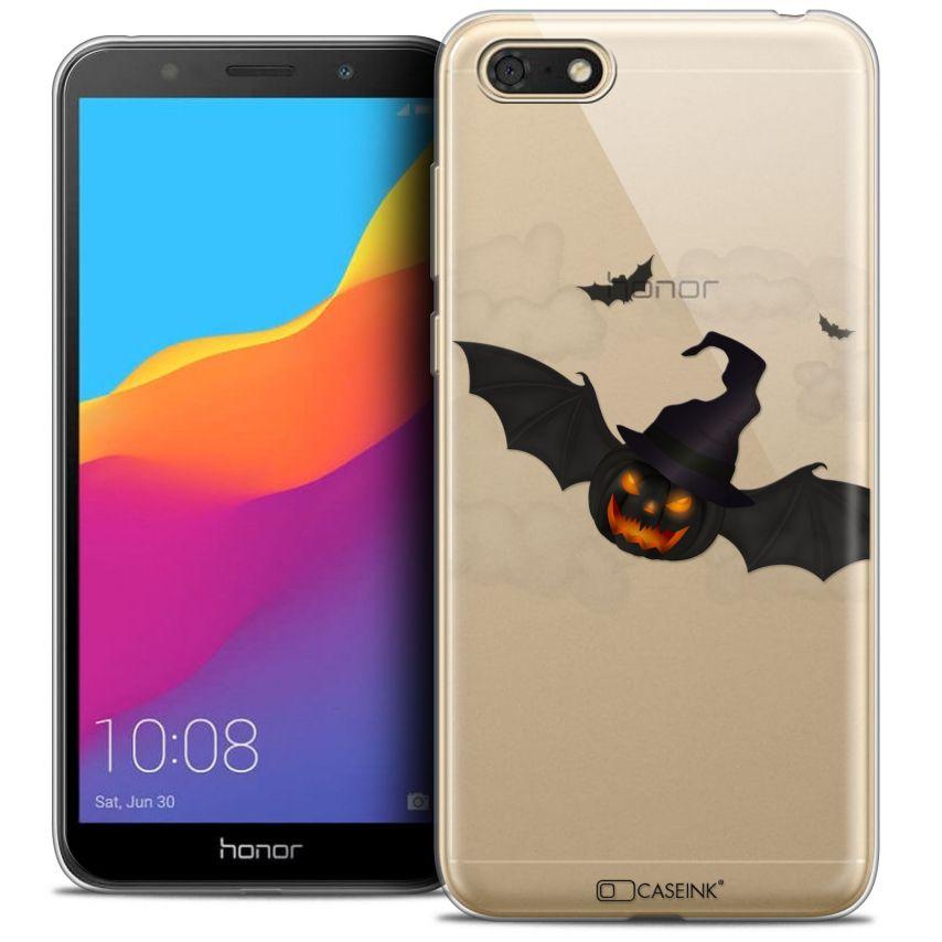 "Carcasa Crystal Gel Extra Fina Honor 7S (5.45"") Halloween Chauve Citrouille"