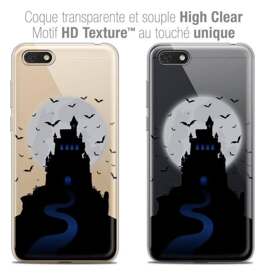 "Carcasa Crystal Gel Extra Fina Honor 7S (5.45"") Halloween Castle Nightmare"