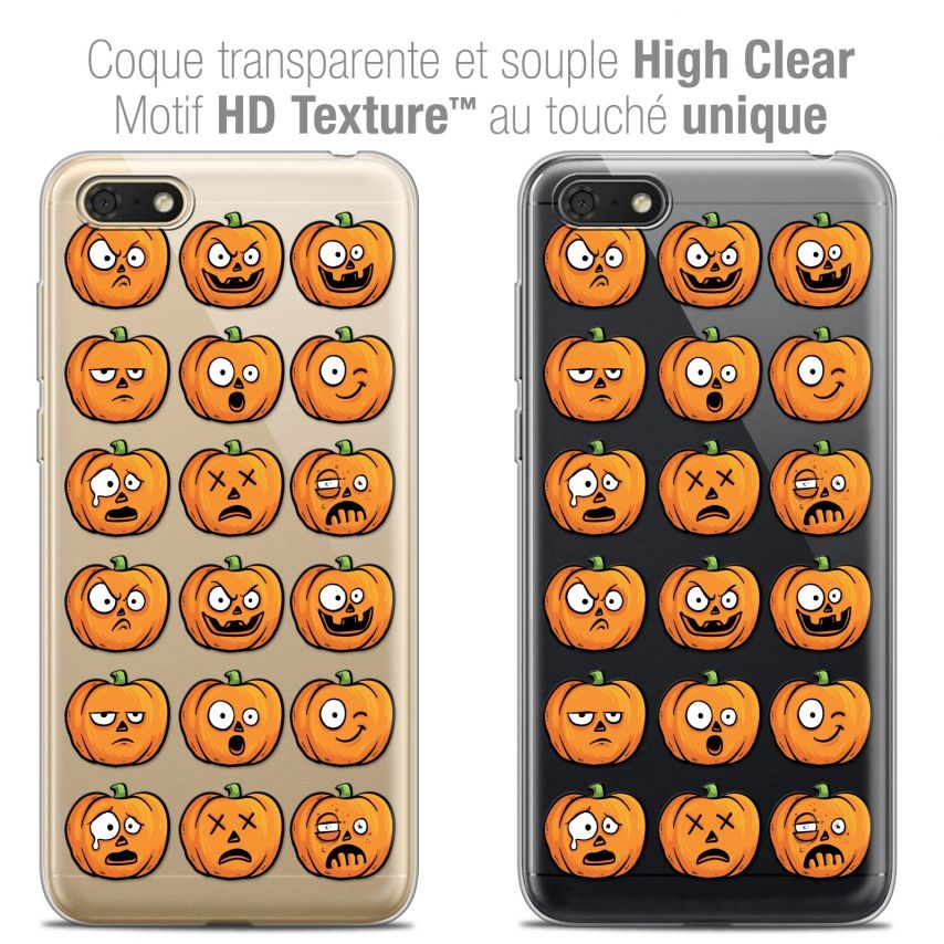 "Carcasa Crystal Gel Extra Fina Honor 7S (5.45"") Halloween Cartoon Citrouille"