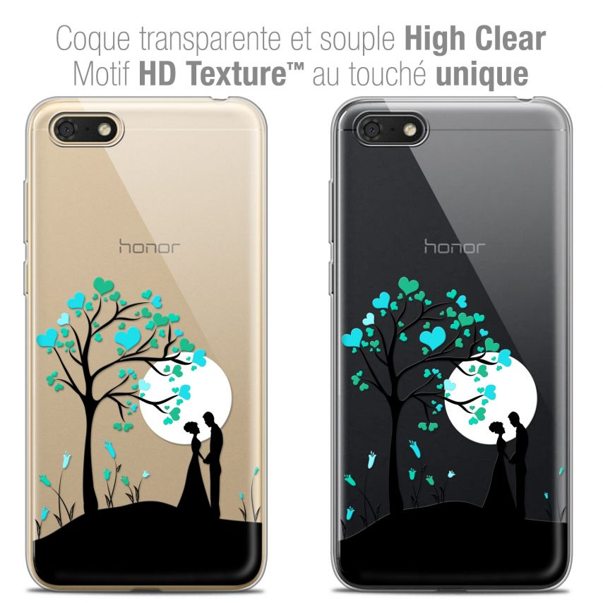 "Carcasa Crystal Gel Extra Fina Honor 7S (5.45"") Love Sous l'arbre"
