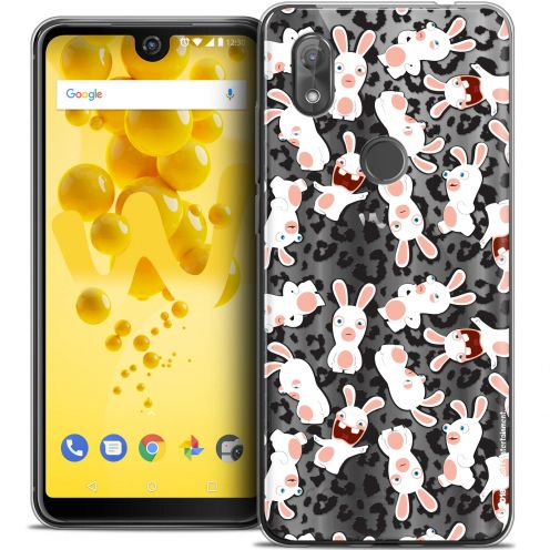 """Carcasa Crystal Gel Wiko View 2 (6.0"""") Lapins Crétins™ Leopard Pattern"""