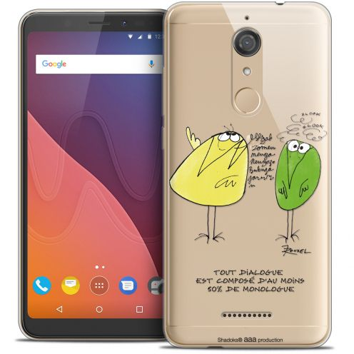 "Carcasa Crystal Gel Extra Fina Wiko View (5.7"") Les Shadoks® Le Dialogue"