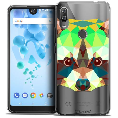 "Carcasa Crystal Gel Extra Fina Wiko View 2 PRO (6.0"") Polygon Animals Raton Laveur"