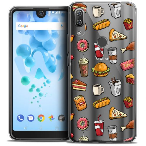 "Carcasa Crystal Gel Extra Fina Wiko View 2 PRO (6.0"") Foodie Fast Food"