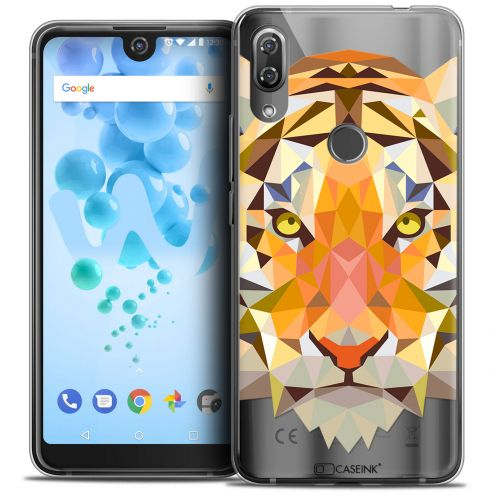 "Carcasa Crystal Gel Extra Fina Wiko View 2 PRO (6.0"") Polygon Animals Tigre"