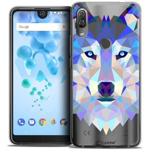 "Carcasa Crystal Gel Extra Fina Wiko View 2 PRO (6.0"") Polygon Animals Lobo"