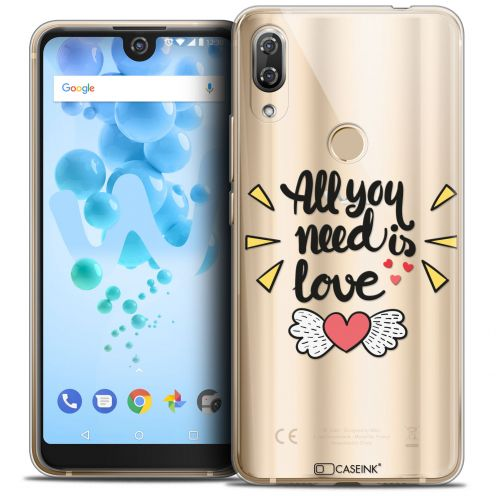 "Carcasa Crystal Gel Extra Fina Wiko View 2 PRO (6.0"") Love All U Need Is"
