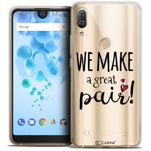 "Carcasa Crystal Gel Extra Fina Wiko View 2 PRO (6.0"") Love We Make Great Pair"