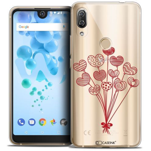 """Carcasa Crystal Gel Extra Fina Wiko View 2 PRO (6.0"""") Love Ballons d'amour"""