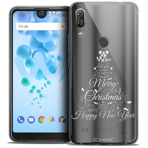 """Carcasa Crystal Gel Extra Fina Wiko View 2 PRO (6.0"""") Noël 2017 Calligraphie"""