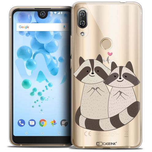"""Carcasa Crystal Gel Extra Fina Wiko View 2 PRO (6.0"""") Sweetie Racoon Love"""