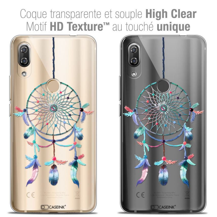 "Carcasa Crystal Gel Extra Fina Wiko View 2 PRO (6.0"") Dreamy Attrape Rêves Rainbow"