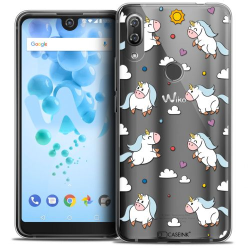 "Carcasa Crystal Gel Extra Fina Wiko View 2 PRO (6.0"") Fantasia Licorne In the Sky"