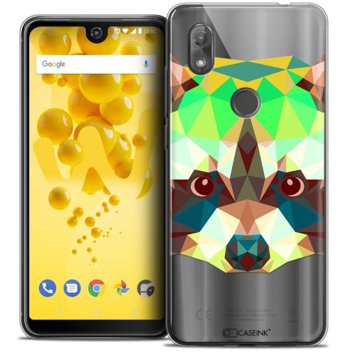 "Carcasa Crystal Gel Extra Fina Wiko View 2 (6.0"") Polygon Animals Raton Laveur"