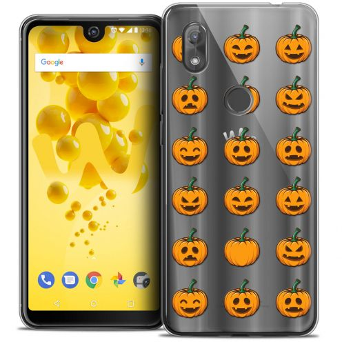 "Carcasa Crystal Gel Extra Fina Wiko View 2 (6.0"") Halloween Smiley Citrouille"