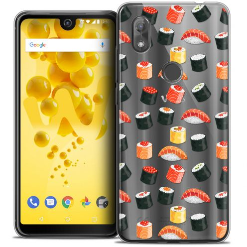 "Carcasa Crystal Gel Extra Fina Wiko View 2 (6.0"") Foodie Sushi"