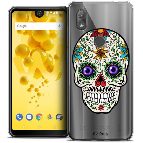 "Carcasa Crystal Gel Extra Fina Wiko View 2 (6.0"") Skull Maria's Flower"