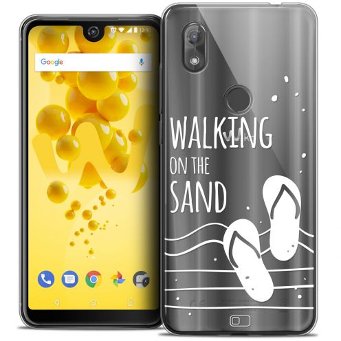 """Carcasa Crystal Gel Extra Fina Wiko View 2 (6.0"""") Summer Walking on the Sand"""