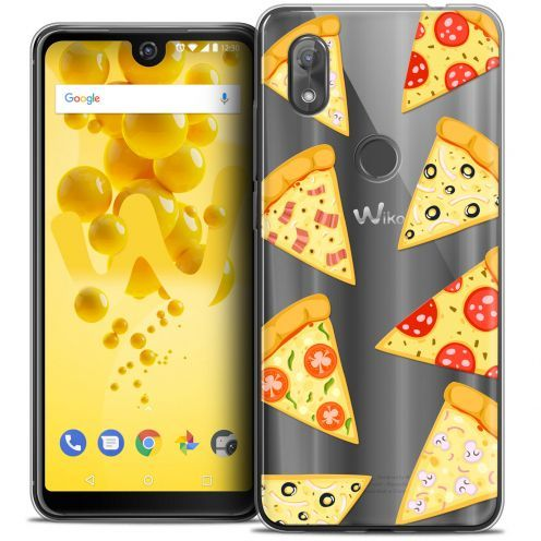 "Carcasa Crystal Gel Extra Fina Wiko View 2 (6.0"") Foodie Pizza"