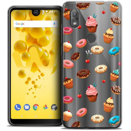 """Carcasa Crystal Gel Extra Fina Wiko View 2 (6.0"""") Foodie Donuts"""