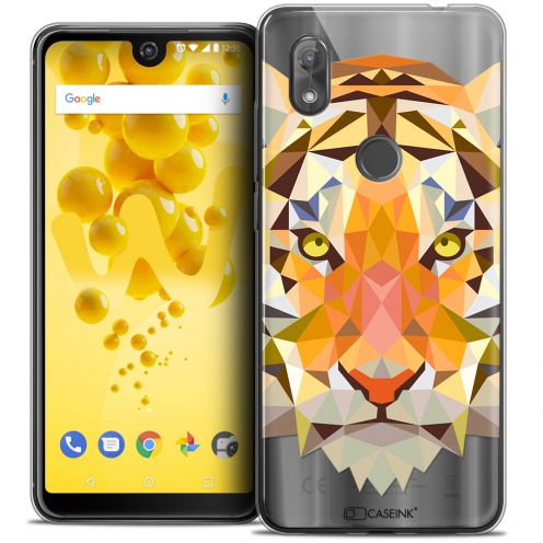 "Carcasa Crystal Gel Extra Fina Wiko View 2 (6.0"") Polygon Animals Tigre"