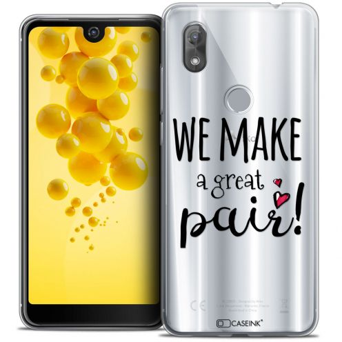 "Carcasa Crystal Gel Extra Fina Wiko View 2 (6.0"") Love We Make Great Pair"