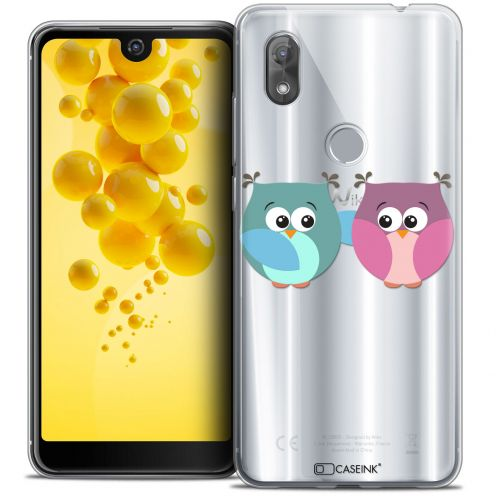 "Carcasa Crystal Gel Extra Fina Wiko View 2 (6.0"") Love Hibous à deux"