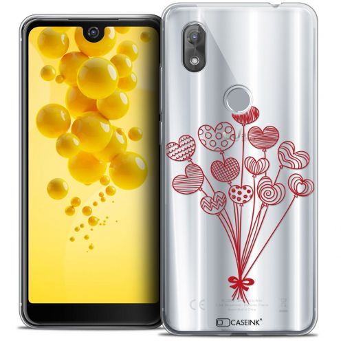 "Carcasa Crystal Gel Extra Fina Wiko View 2 (6.0"") Love Ballons d'amour"