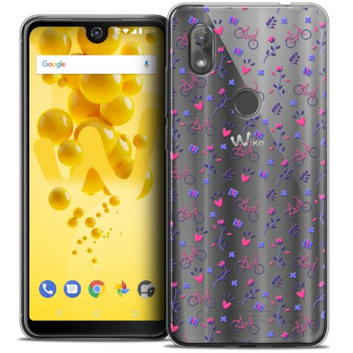 """Carcasa Crystal Gel Extra Fina Wiko View 2 (6.0"""") Love Bicycle"""