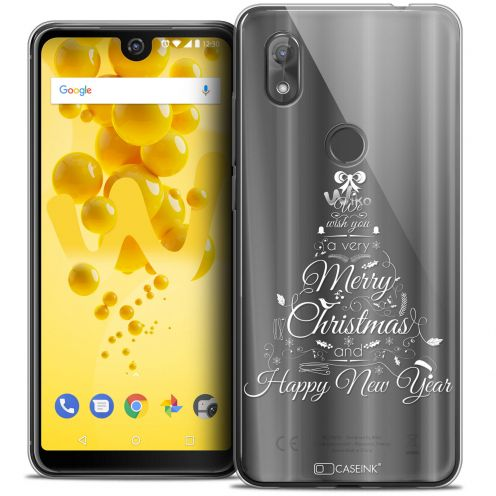 """Carcasa Crystal Gel Extra Fina Wiko View 2 (6.0"""") Noël 2017 Calligraphie"""