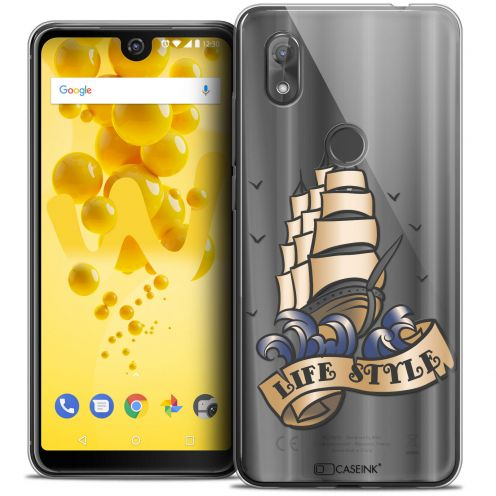 "Carcasa Crystal Gel Extra Fina Wiko View 2 (6.0"") Tatoo Lover Life Style"