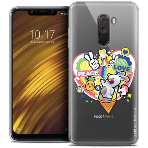 "Carcasa Crystal Gel Xiaomi Pocophone F1 (6.18"") Lapins Crétins™ Peace And Love"