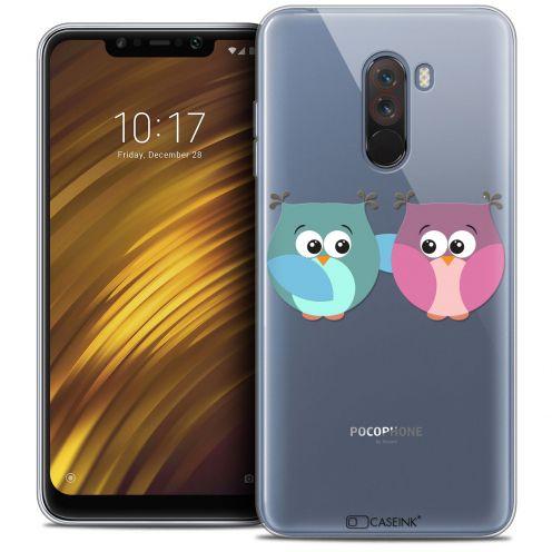 "Carcasa Crystal Gel Extra Fina Xiaomi Pocophone F1 (6.18"") Love Hibous à deux"