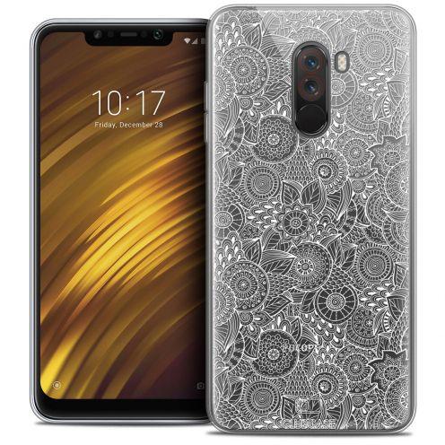 "Carcasa Crystal Gel Extra Fina Xiaomi Pocophone F1 (6.18"") Dentelle Florale Blanc"