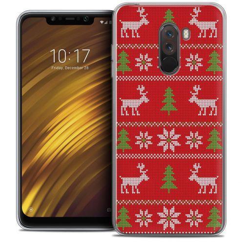 "Carcasa Crystal Gel Extra Fina Xiaomi Pocophone F1 (6.18"") Noël 2017 Couture Rouge"