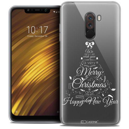 "Carcasa Crystal Gel Extra Fina Xiaomi Pocophone F1 (6.18"") Noël 2017 Calligraphie"