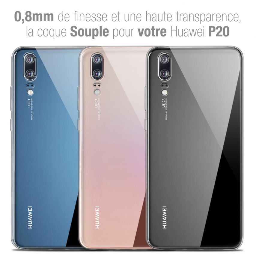 "Carcasa Extra Fina 1 mm Flexible Crystal Clear para Huawei P20 (5.8"")"