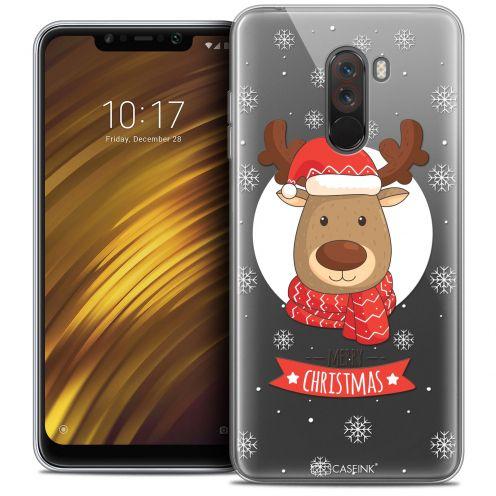 """Carcasa Crystal Gel Extra Fina Xiaomi Pocophone F1 (6.18"""") Noël 2017 Cerf à Echarpe"""