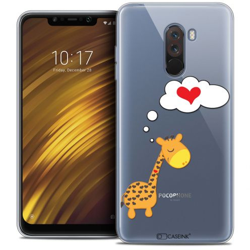 "Carcasa Crystal Gel Extra Fina Xiaomi Pocophone F1 (6.18"") Love Girafe Amoureuse"