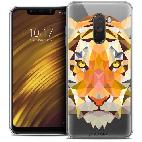 "Carcasa Crystal Gel Extra Fina Xiaomi Pocophone F1 (6.18"") Polygon Animals Tigre"