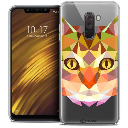 "Carcasa Crystal Gel Extra Fina Xiaomi Pocophone F1 (6.18"") Polygon Animals Gato"