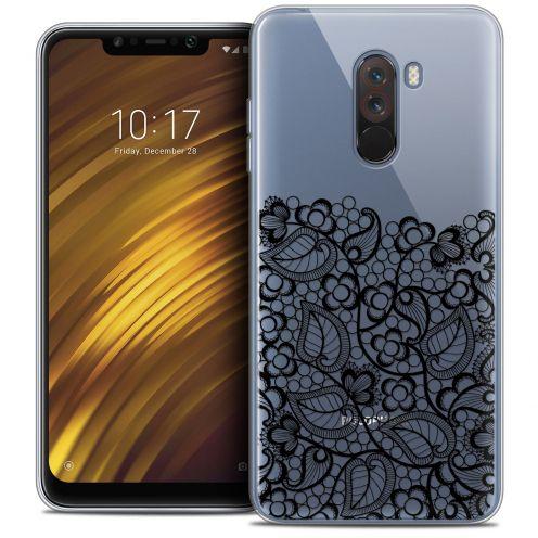 "Carcasa Crystal Gel Extra Fina Xiaomi Pocophone F1 (6.18"") Spring Bas dentelle Noir"